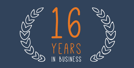 16 years in business