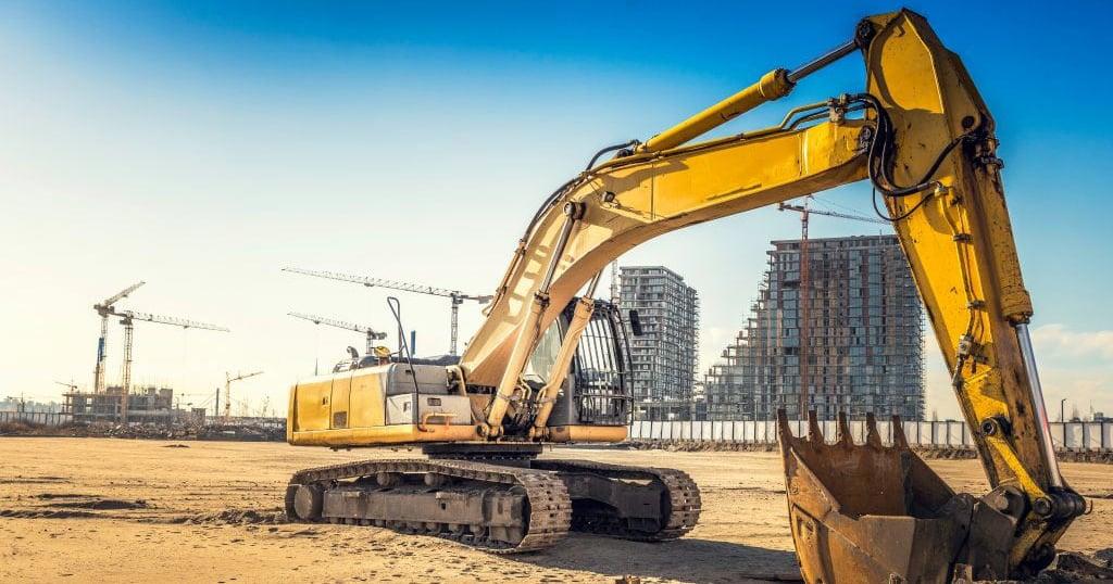 Image Excavator Construction Site