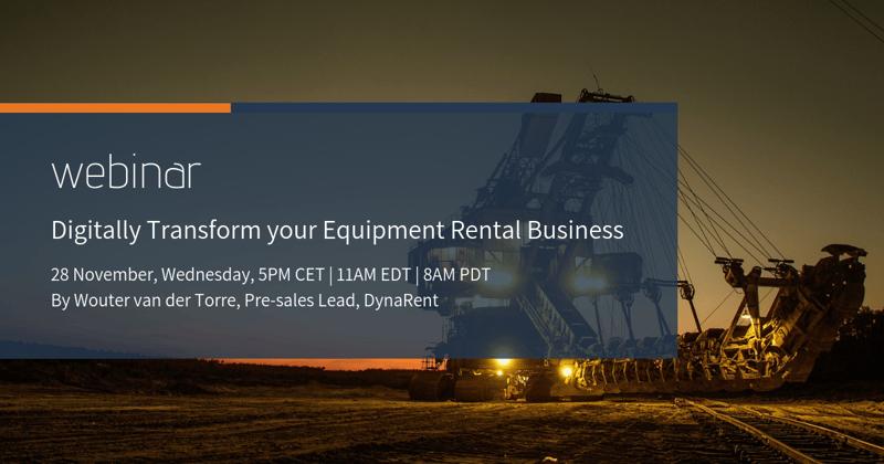 equipment rental webinar