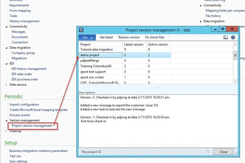 Dynamics AX Integration Project Version Management 4