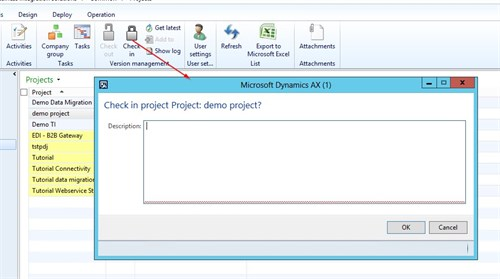 Dynamics AX Integration Project Version Management 1