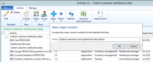 Versioning In Rapid Value BPM For Dynamics AX