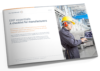 Download this checklist to learn what capabilities your manufacturing ERP system must have.