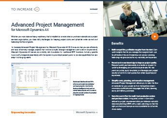 Advanced Project Management (AX)