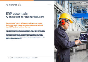 Free Checklist: ERP Essentials for Manufacturers