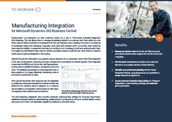 Manufacturing Integration