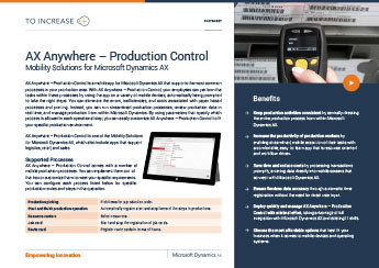 Anywhere for Production Control