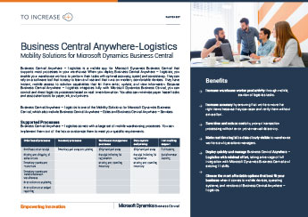 Anywhere for Logistics