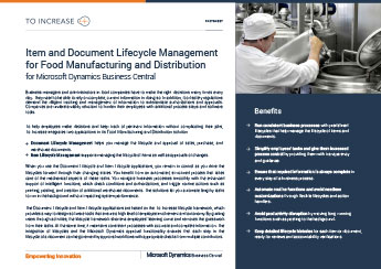 Item &Document Lifecycle Management