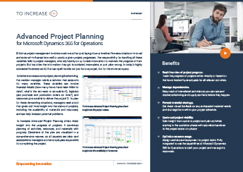 Advanced Project Planning (D365FO)