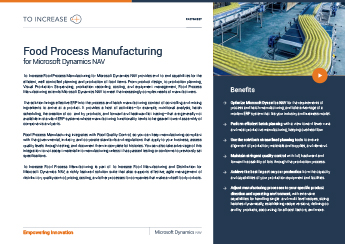 Food Process Manufacturing NAV
