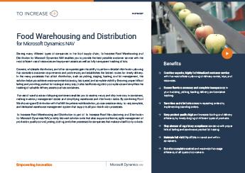 Food Warehousing and Distribution NAV